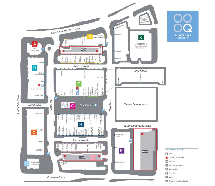 Map of Scottsdale Quarter Parking